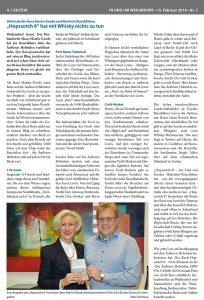 """""""Hopscotch 8"""" Buchtipp in der Wochenzeitung """"In und um Weilimdorf"""" am 15. Februar 2019"""