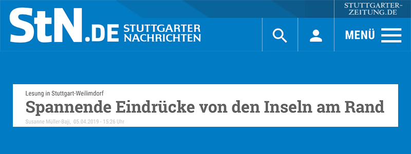 """Stuttgarter Nachrichten - Bericht zu """"Hopscotch 8"""""""